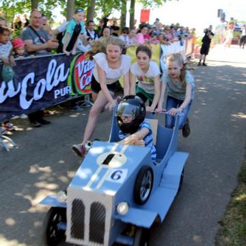 Veranstaltungsbild für 28. Prix de Tacot – Das Leipziger Seifenkistenrennen am Fockeberg